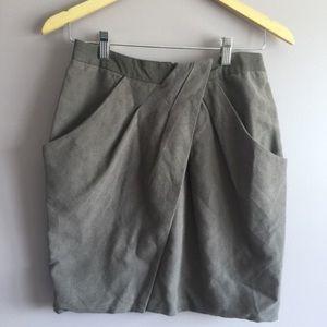 Anthropologie Fei lined wrap skirt
